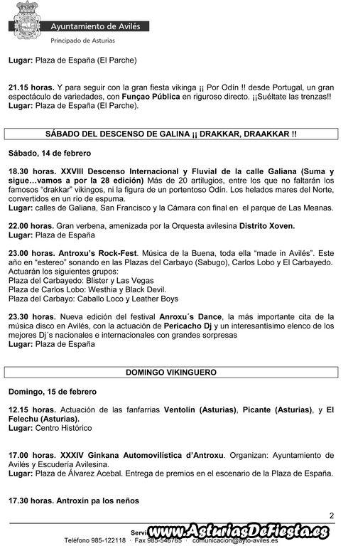 Programa oficial Antroxu 2015