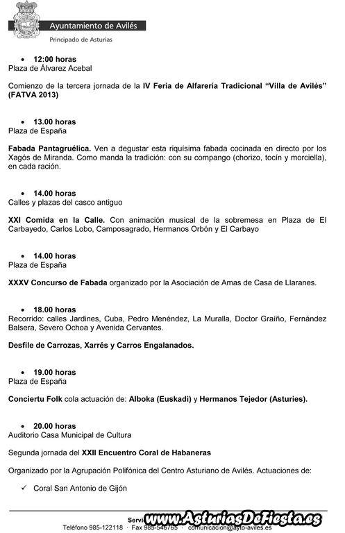 Programa El Bollo 2013