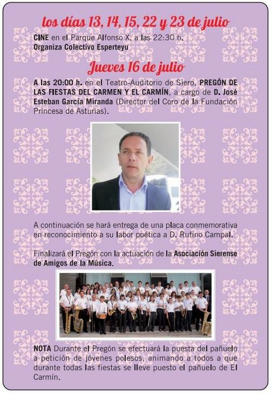 Fiesta de el carm n de la pola siero 2015 07 julio - El tiempo en siero asturias ...