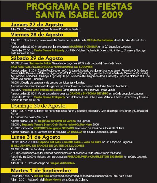 programacion-santa-isabel-lugones-2009