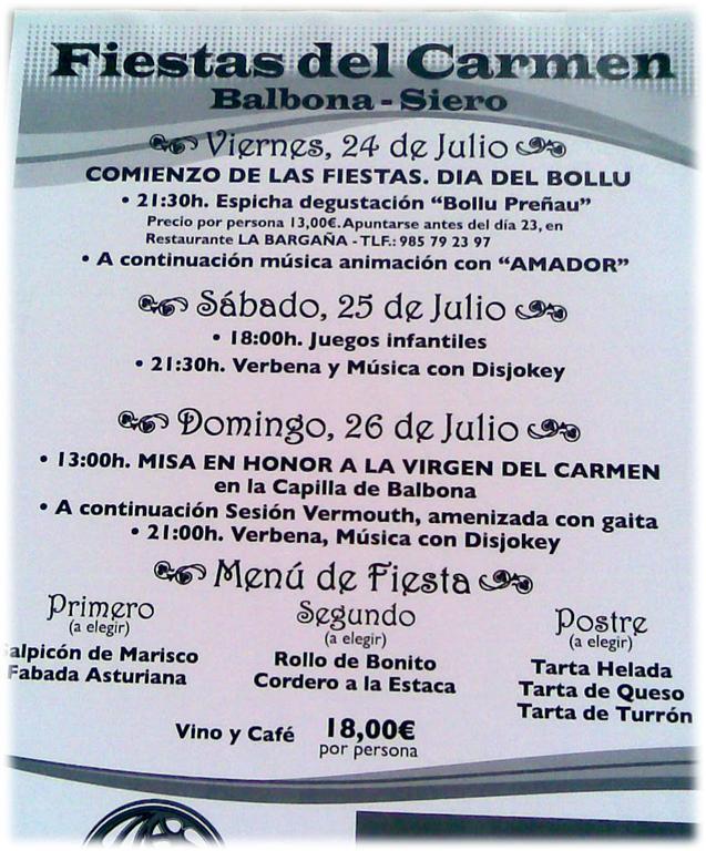 El carmen en balbona siero 2009 07 julio - El tiempo en siero asturias ...