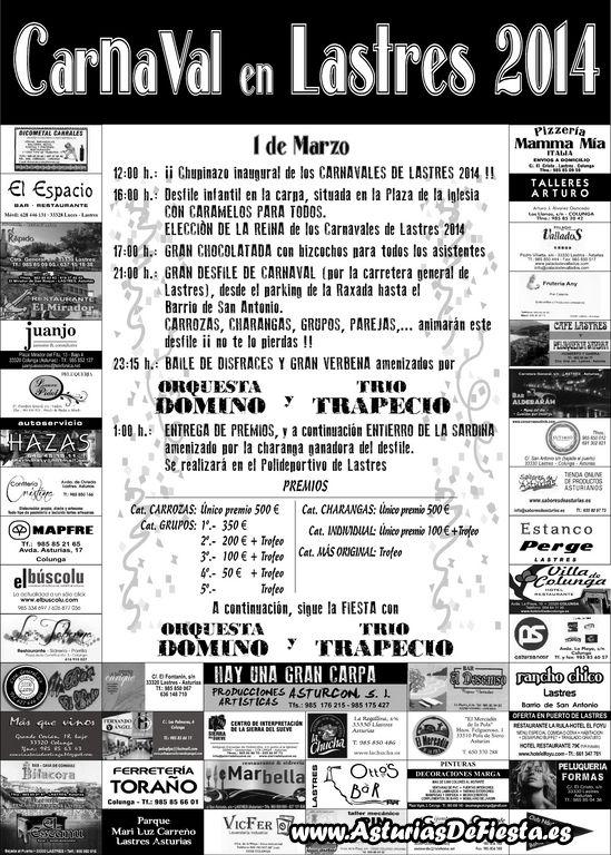 Cartel 2 Caranaval Lastres 2014 ENV [1024x768]