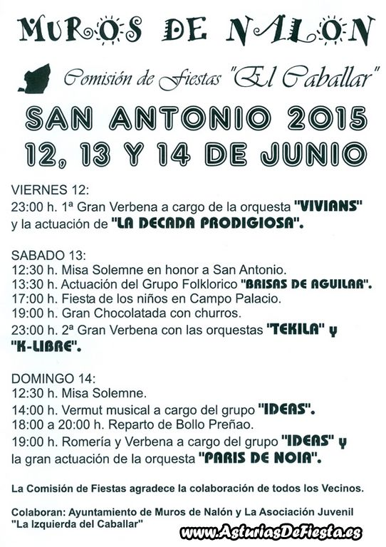 Fiesta de San Antonio en Muros de Nalón 2015