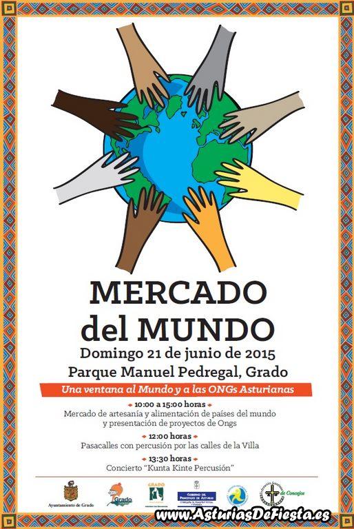 Asturias con niños: Mercado del mundo en Grado