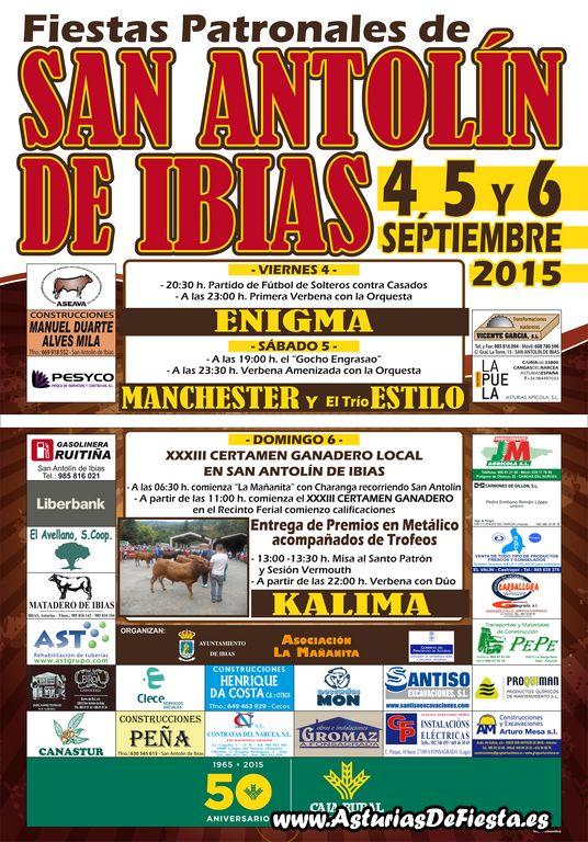 cartel certamen de ganado san antolin ibias 2015