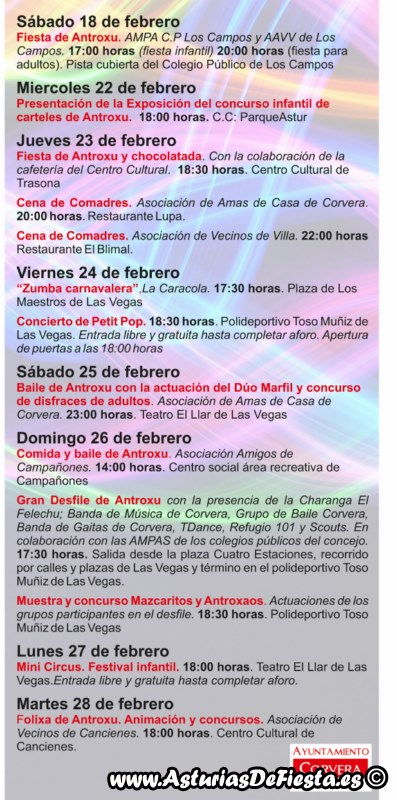 Fiesta de antroxu carnaval en corvera 2017 02 - Carnaval asturias 2017 ...