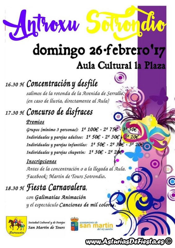 Fiesta de antroxu carnaval en sotrondio s m r a 2017 - Carnaval asturias 2017 ...