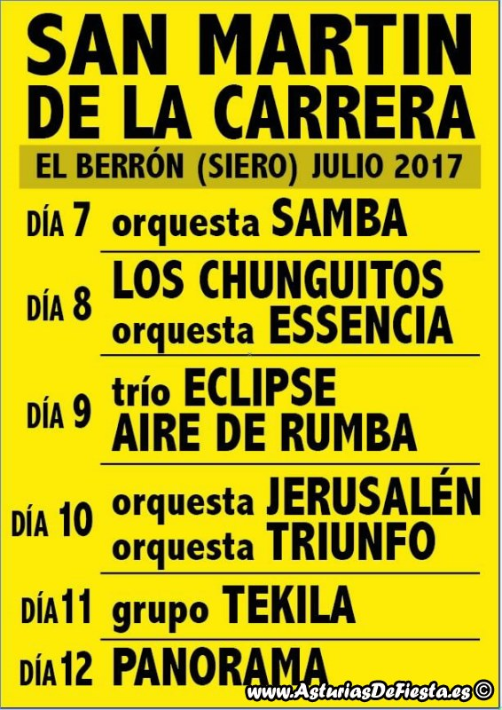 Fiesta de san mart n de la carrera en el berr n siero - El tiempo en siero asturias ...