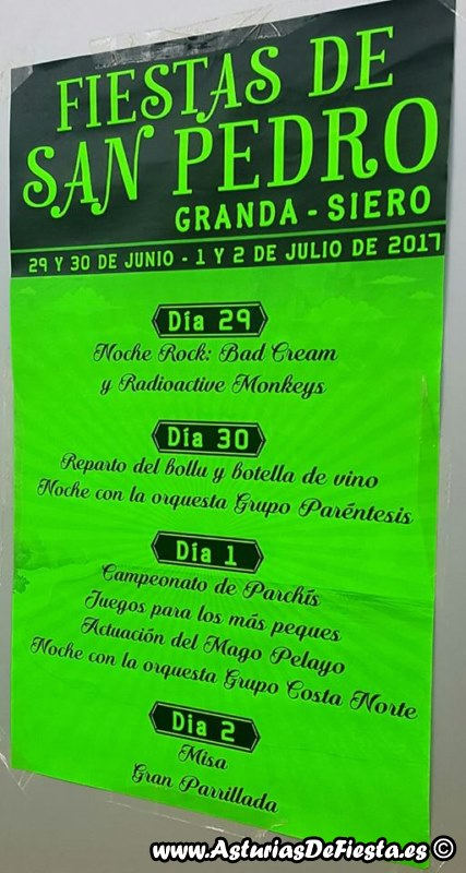 Fiesta de san pedro en granda siero 2017 07 julio - El tiempo en siero asturias ...